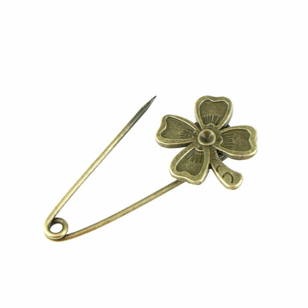 Panjang peniti vintage pin bros owl bentuk ornamen untuk syal sweather mantel tas