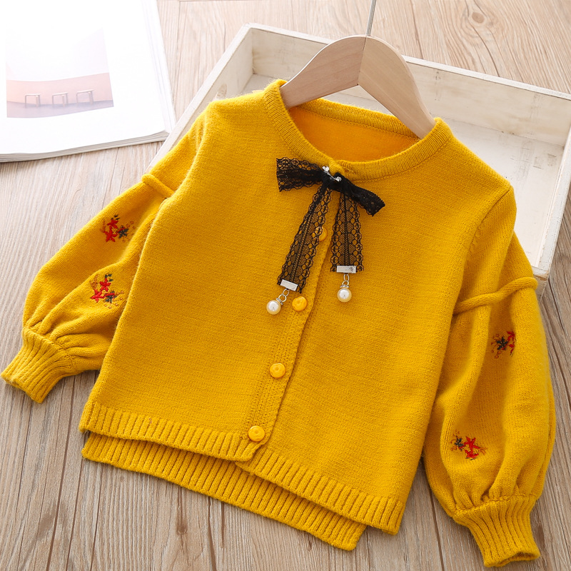 Image 4 - Cotton Baby Jacket Cardigan For girl Kids Sweater Korean Long Sleeve Coat Toddler Girls Knitted Outerwear Winter Autumn Clothes-in Jackets & Coats from Mother & Kids