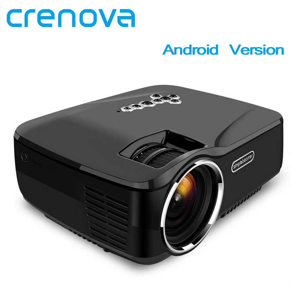 CRENOVA LED Projector With Wifi Bluetooth For Home Theater Video Projector Support Full HD 1080p With Android Version