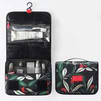 Waterproof Portable Beautician Toiletry Bag Folding Organizer Hanging Storage Make Up Case Travel Necessary Flower Cosmetic