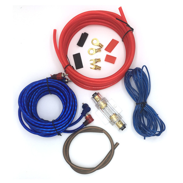 4.5m 8GA Car Audio Wire RCA Amplifier Subwoofer Cable Speaker Wire ...