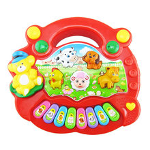 Pop Musical Instrument Children's Keyboard Toy Baby Animal Farm Piano Development Music Child Early Learning Toys(China)