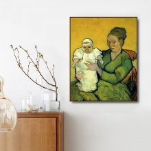 Madame and Baby by Vincent Von Gogh Poster Print Canvas Painting Calligraphy Home Decor Wall Art Pictures for Living Room