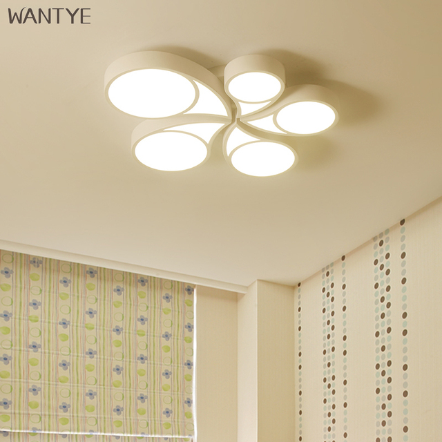 Remote Control Modern LED Ceiling light for Bedroom Study room Acrylic Children Ceiling Lamp Dimmable three-color optional