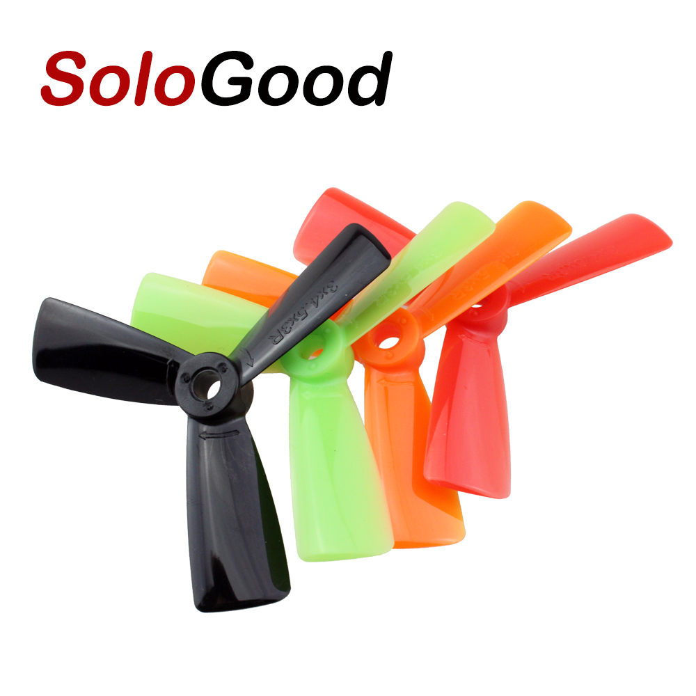 SoloGood 10pcs/lot 5pairs 3x4.5 <font><b>3045</b></font> 3045R CW CCW 3 Blade <font><b>Propeller</b></font> Props For RC FPV Multi-Copter Quadcopter QAV250 FPV Props image