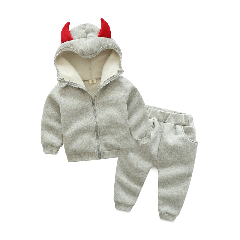 Baby boy girl clothing sets autumn winter Children Long Sleeve  Hooded Jacket+Pants 2PCS children's Kids Sports Clothes Set he hello enjoy toddler girls clothes autumn winter girl clothing sets 2017 long sleeved jacket skirt pants flower clothing set