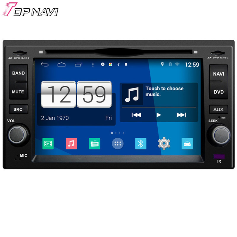Topnavi Quad Core Android 4 4 Car DVD Multimedia Player for Kia Universal 2006 2007 2008