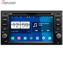 Topnavi Quad Core Android 4.4 DVD del coche reproductor multimedia para KIA universal 2006 2007 2008-Audio Radios 2DIN GPS navegación