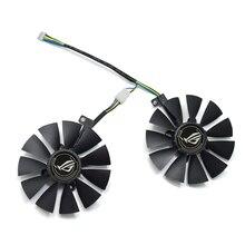 88 мм T129215SU DC 12 В 4Pin кулер вентилятор Замена для ASUS ROG STRIX RX 470 570 GTX 1060 1070 1060Ti 3 ГБ графическая видеокарта