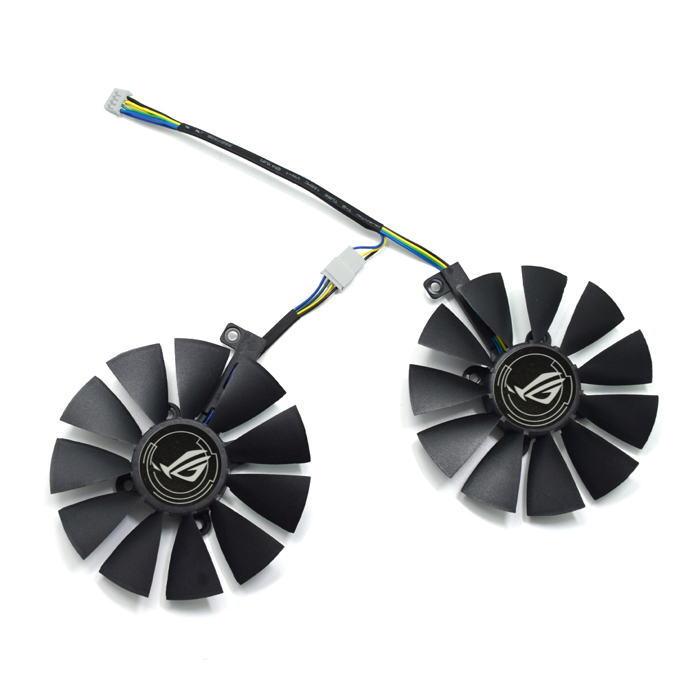 New 88MM T129215SU DC 12V 4Pin Cooler Fan Replacement For ASUS ROG STRIX RX 470 570 GTX 1060 1070 1060Ti 3GB Graphics Video Card image