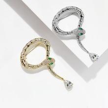 Donia biżuteria nowych, inkrustowane AAA cyrkon wąż wąż broszka dziki szal klamra szalik kapelusz pin płaszcz boutonniere luksusowe prezent