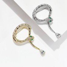 Donia jewelry New micro inlaid AAA zircon snake snake brooch wild shawl buckle scarf hat pin coat boutonniere luxury gift