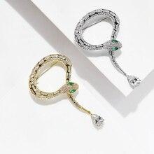 Donia sieraden Nieuwe micro ingelegd AAA zirkoon snake snake broche wilde sjaal gesp sjaal hoed pin jas boutonniere luxe gift