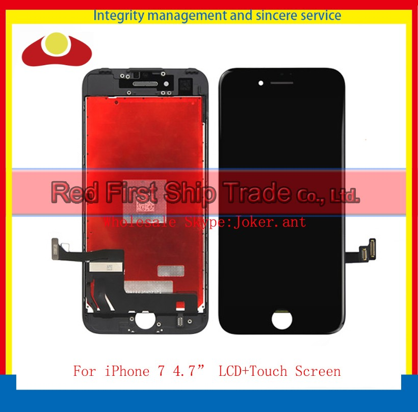 10Pcs/lot DHL EMS High Quality For iPhone 7 Full LCD Display Touch Screen Digitizer Sensor Panel Assembly Complete White Black dhl ems high quality black white gold