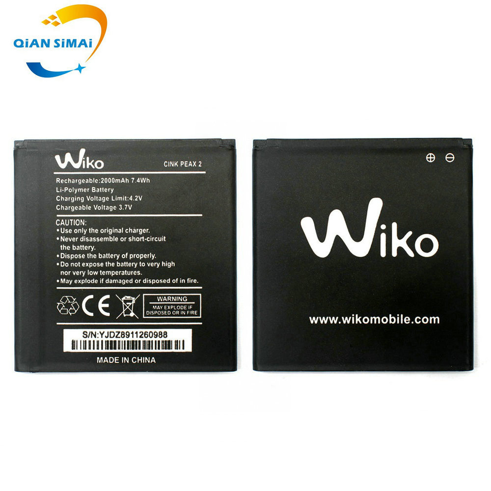 Replacement Qian 2-Battery 2000mah For Wiko CINK PEAX 2--Track-Code Li-Ion High-Quality
