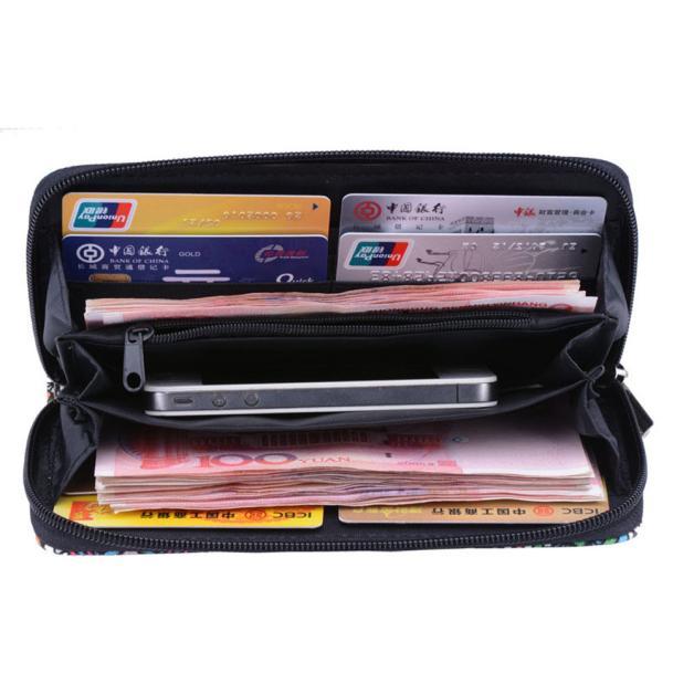 Wallets Zipper Design Tribal Printed Phone Bags Long Female Purse Ladies Large Capacity Clutch Wallet
