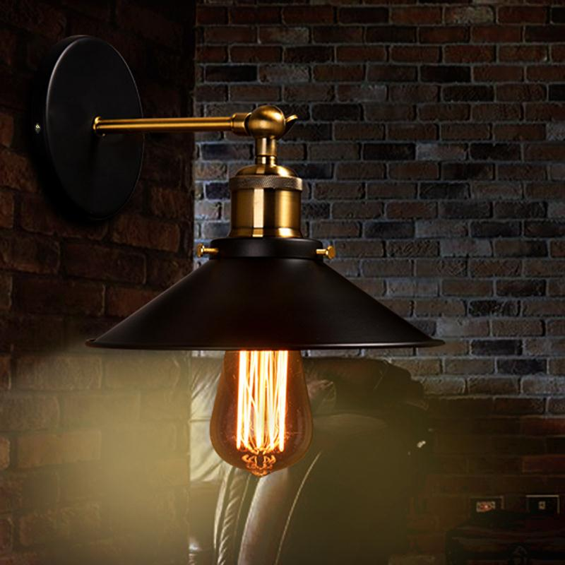 ФОТО Loft Vintage Industrial Wall Lamp Wrought Iron Wall Sconce Adjustable Bedside Wall Lamps LED E27 Indoor Lighting For Bar Cafe