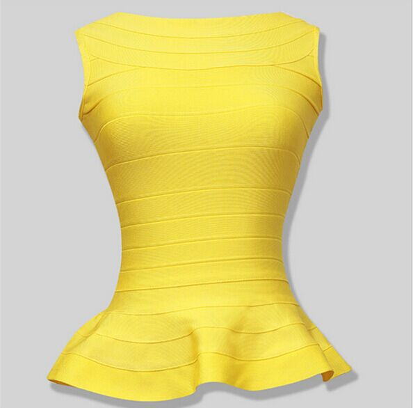 Style Number T070 many colors fashion peplum ladies crop tops