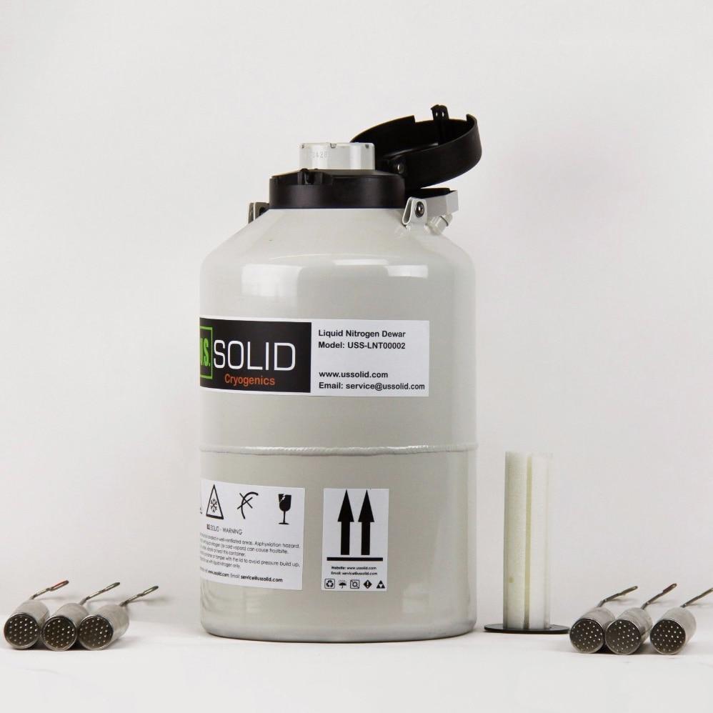 ÉTATS-UNIS Solide 6 L Liquide Contenant L'azote Cryogénique LN2 Réservoir Dewar avec Bretelles