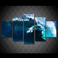 HD Printed Hawaii Waves Ocean Painting Canvas Print Room Decor Print Poster Picture Canvas Free Shipping
