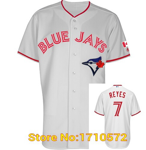 2015 canada day mens toronto blue jays 7 jose reyes 10 edwin encarnacion authentic cool base baseball jerseys stitched cheap in baseball jerseys from