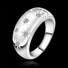 Estilo fino verano platea los anillos plateados joyería artificial anillos de boda para las mujeres SR504 925-sterling-silver