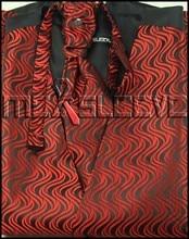 Wholesale cheap red&black men's suits high quality waistcoat 4pcs