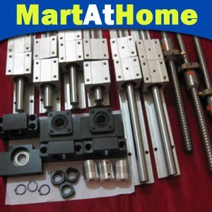 CNC Cutting table 4pcs SBR16 + 4pcs SBR16UU + 4pcs Ballscrews 1605 + 4pcs ballnuts + 4pcs coupler + 4 set/pair BF/BK12 #SM222 EF