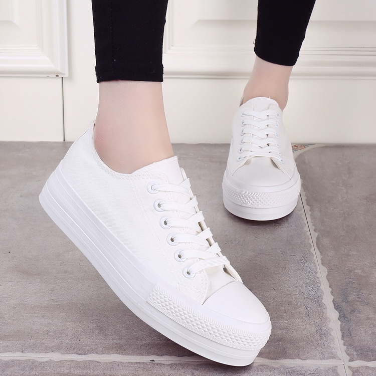 New Arrival 2017 summer Women Casual shoes Lace-up Classic Canvas Shoes Woman Zapatillas Mujeres trend Female flat white Shoes summer women shoes casual cutouts lace canvas shoes hollow floral breathable platform flat shoe sapato feminino lace sandals