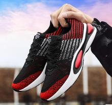 2019 spring new trend flying woven sneakers summer breathable mens shoes fashion running masculino