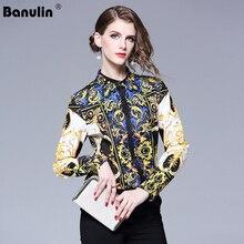 купить Runway Tops Designers 2018 New Spring Women Long Sleeve Floral Print Blouse Luxury Brand Shirts Vintage Blouses Blusa Feminina по цене 1169.76 рублей