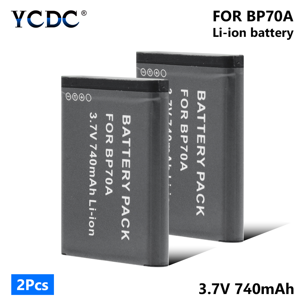 1/2 Pieces BP70A 740mAh Li-ion Lithium Battery For Samsung ES30 ES65 ES67 ES70 ES71 ES73 ES74 ES75 ES80 ES90 ES95 ES96 ES99 SL50 image