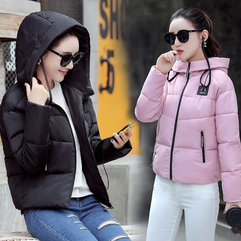 Women Jacket Coat Winter 2017 New Hot Fashion Female Hooded Zipper Thick Warm Coats Jackets Parkas Short Cotton-padded SJA01#901 winter jacket women 2017 new female 5 color slim cotton padded jackets fashion short hooded zipper parkas coats a1013b 16601