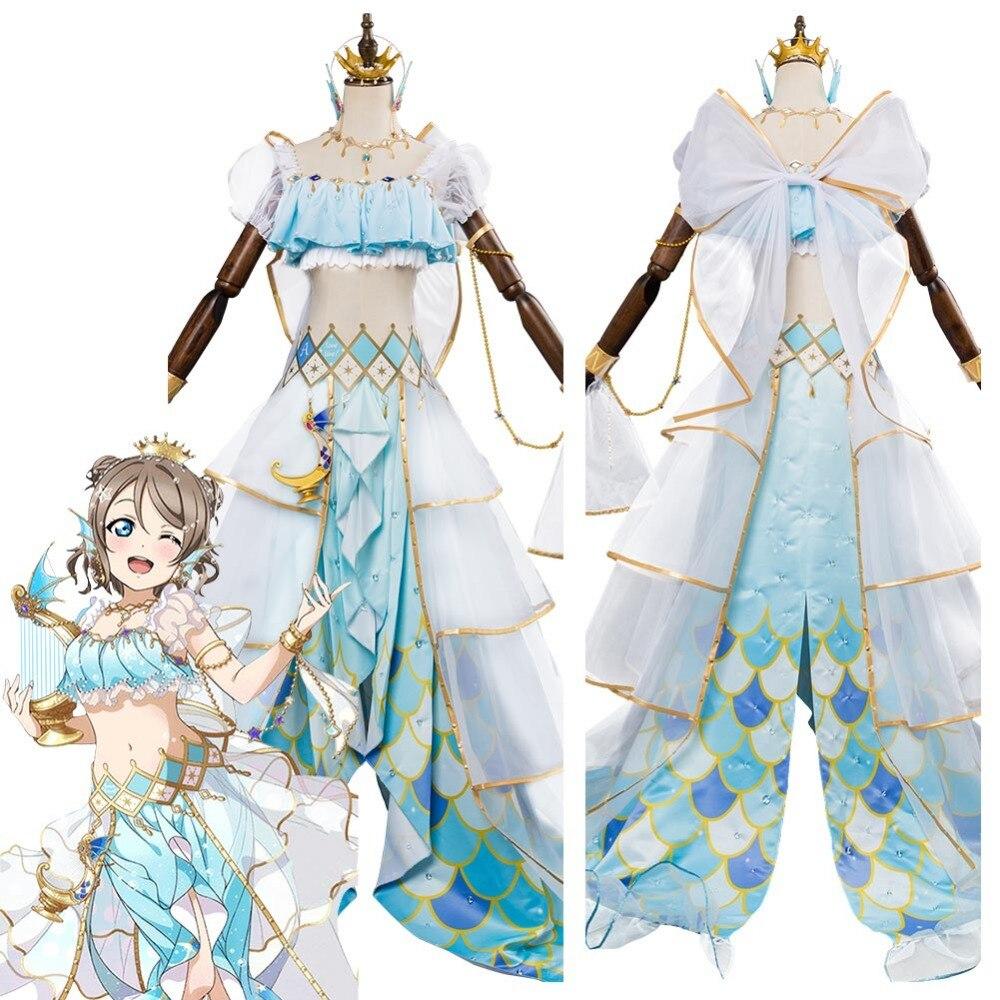 Lovelive Sunshine G's Magazine Watanabe You Cosplay Mermaid Awaken Costume Halloween Carnival Cosplay Costumes