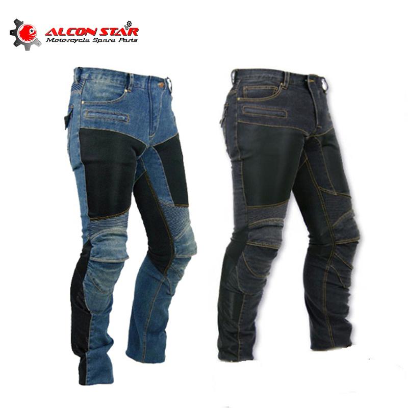 Prix pour Alconstar-moto KO MINE PK-719 hommes pantalon hors route café racer femmes pantalon en plein air hommes jean vélo avec genouillère pad pantalon