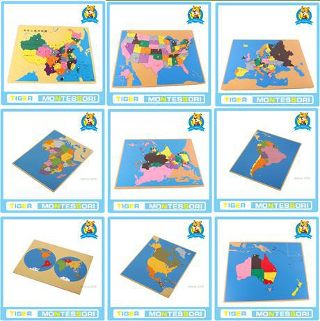 Puzzle map of world parts europe north america south america puzzle map of world parts europe north america south america asiaafrica australia china canada montessori puzzle in mens costumes from novelty gumiabroncs Image collections