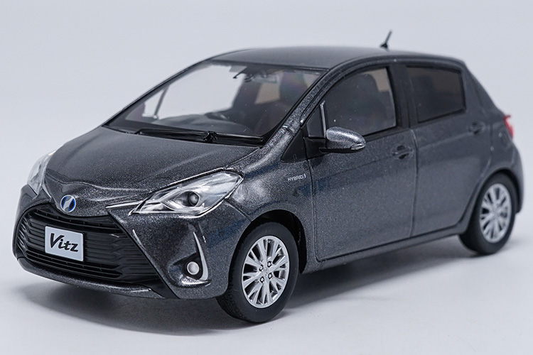 1:30 Diecast Model for Toyota Vitz Gray (Without Color Box