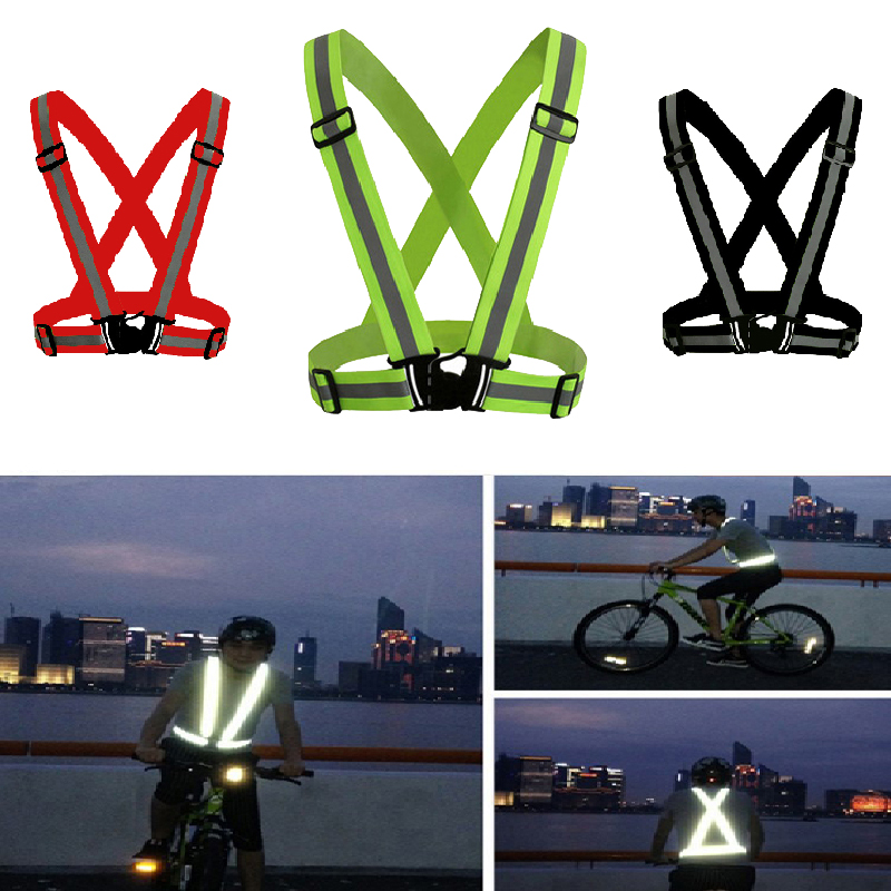 Reflective Vest High Visibility Unisex Outdoor Running Cycling Safety Vest Adjustable Elastic Strap Fluorescence Work Wholesale(China)