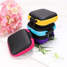 1Pc Headphone Protective Storage Box Colorful Organizer Data Line Cables Charger Container Case Travel Earbuds SD Card Box(China)