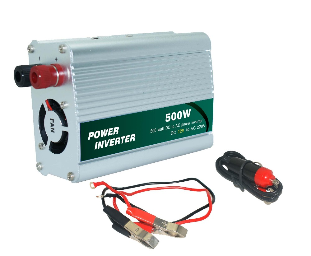 New arrival cigarette lighter Power Supply 500W <font><b>12V</b></font> DC <font><b>to</b></font> <font><b>220V</b></font> AC <font><b>Car</b></font> Power Inverter <font><b>Adapter</b></font> Port hot sale for home use image