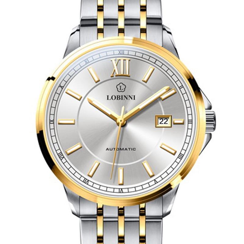 Switzerland LOBINNI Luxury Brand Men Watches Sapphire relogio Japan Import NH35A SIIO Automatic Mechanical MOVT Clock