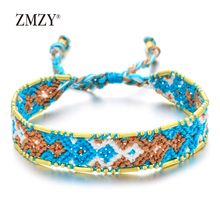 ZMZY Bohemian Colorful Rope Chain Charm Bracelet Friendship Women/Girls Hand Weave Boho Yoga Wrap Femme