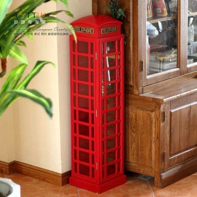 Indoor Telephone Booth Storage Cabinet Cd Rack Living Room Decoration Wool  Home Decoration