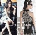 2013 Моды женщин/Последние Японский и Корейский национальный ветер Богемия Ретро Тотем Платье Без Рукавов 152