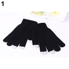 Unisex Winter Soft Knit Touch Screen Gloves for Texting Capacitive Smartphone