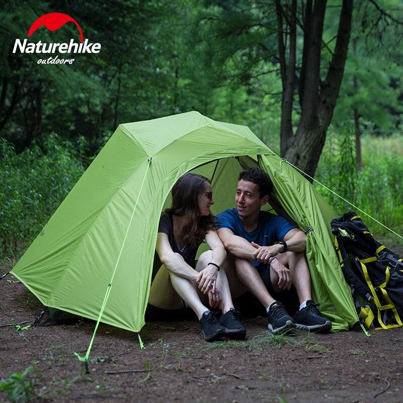 Naturehike Модернизированный облачный 1 2 3 Сверхлегкий тент отдельно стоящий 20D ткань 1 3 человека палатки для кемпинга с бесплатным ковриком - 3