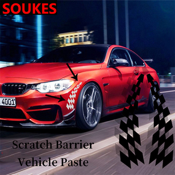 2pcs Cool Car Wheel Edge Fender Eyebrow Sticker For Suzuki Swift Bmw F10 X5 E70 E30 F20 E34 G30 E92 E91 M Volvo XC90 S60 V40 S80 image