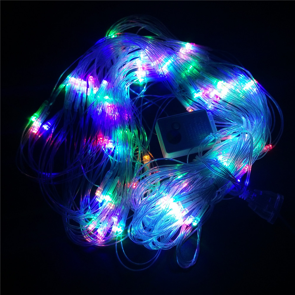 YIYANG LED Net Light 2*2m 144 LED Outdoor String Lights 220V Wedding Party Christmas Decorations for Home Waterproof Smart Bulb