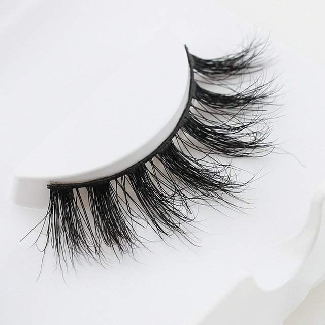 Super Thick Long Natural Look Cross False Eyelashes Eye Lashes Women