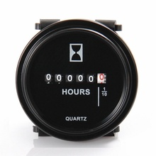 NewRound Hour Meter Snap in Quartz Hour Meter Mechanical Timer for Boat Auto ATV UTV Snowmobile Lawn Mower Tractors Vehicle Cars
